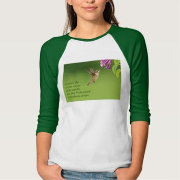 Green Is The Prime Colour - Image Quote T-Shirt