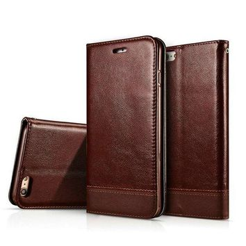 Iphone 8 Case Iphone 7 Wallet Casecrosspace Flip Pu Leather Protective Shell Magnetic Folio Book Stand Cover With Card Holder For Apple Iphone 8 Iphone 7 Coffee