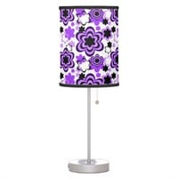 Purple Floral Teen Girl Bedroom Desk Table Desk Lamp