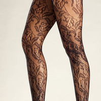 Floral Net Tights