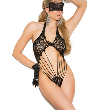 Lace teddy and matching eye mask