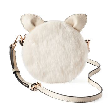 LC Lauren Conrad Petit Faux Fur Critter Crossbody Bag