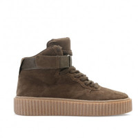 The Suede Hi Top Creepers Olive Green