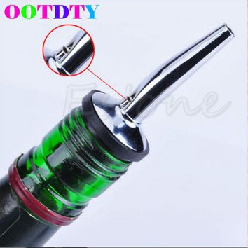 Stainless Steel Wine Olive Oil Pourer Dispenser Spout Glass Bottle Wine Bottle Pour Spout Stopper Barware For Bar APR7_30