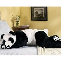 Super-Soft Big Bear Hug Body Pillow with Realistic Accents, Panda Bear