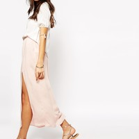 Vero Moda Side Split Maxi Skirt