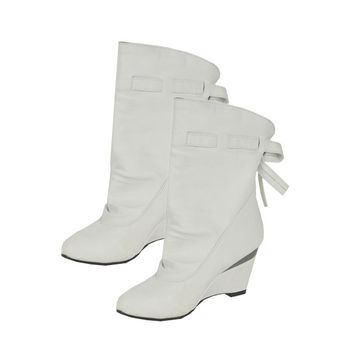 Fashion Women's Girls Winter Boots Round Toe Shoes Wedge Boots 3 Colors