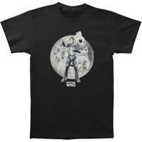 Doctor Who Men's  Cybermen Circle T-shirt Black Rockabilia