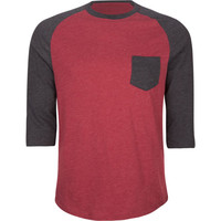 Retrofit Mens Baseball Tee Heather Red  In Sizes