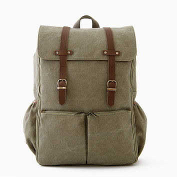 Diaper Backpack / Moms & Dads Diaper Bag / Casual Daypacks / Canvas Backpack / Green Canvas / CARRYALL