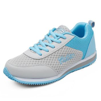 Super Light Women Athletic Sport Sneakers PU Leather Breathable Walking Wedges Running Shoes