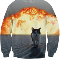 Cat Explosion Crewneck Sweatshirt