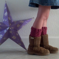 Legwarmers / Boot cuffs / Boot tops for girls - RASPBERRY- (more colors available)
