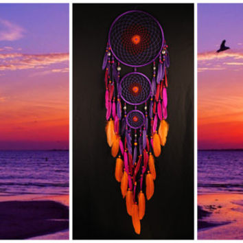 Violet Dream Catcher Large Dreamcatcher Sunset Dream сatcher dreamcatchers boho dreamcatchers wall decor handmade gift idea Christmas gift
