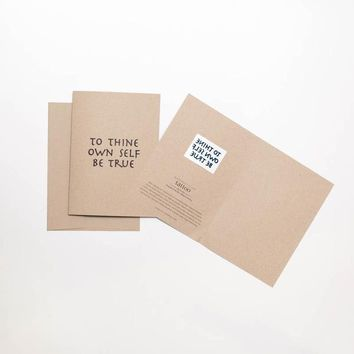 To Thine Own Self Be True Tattoo Greeting Card