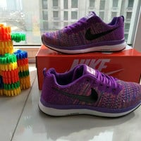 """""""Nike"""" Fashion Multicolor Casual Male Female Breathable Comfortable Fly Weave Couple Sneakers Running Shoes"""