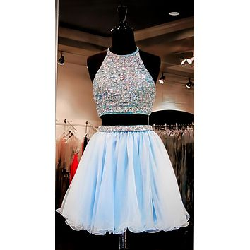 Two Piece Homecoming Dress, Two Pieces Homecoming Dresses 2017