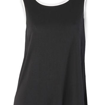 Isaac Mizrahi New York Tank with Contrast Trim