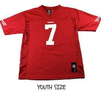 PEAPYD9 San Francisco 49ers #7 Colin Kaepernick NFL Jersey YOUTH Size Large