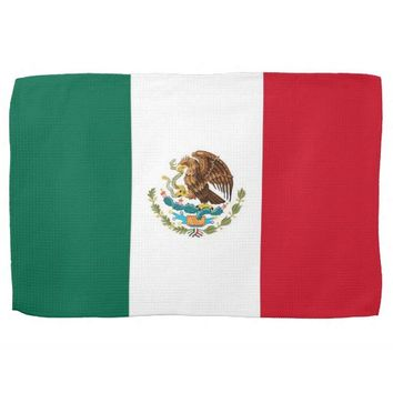 Kitchen towel with Flag of Mexico