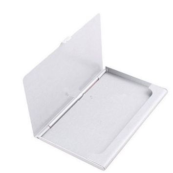 1pc Business ID Credit Card Holder Case Cover Waterproof Stainless Steel Metal Case Box 9.3x5.7x0.7cm