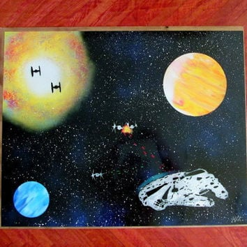 star wars spray paint art,star wars painting,star wars poster,star wars wall art,star wars home decor,affordable art,star wars gift,large