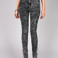 Acid Singe Skinnys | High Rise Jeans at Pink Ice