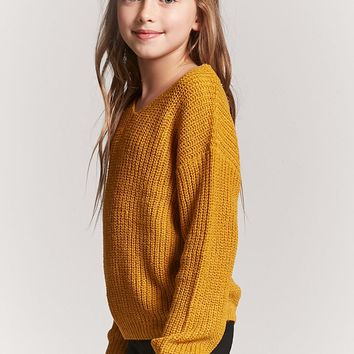 Girls Lace-Up Sweater (Kids)