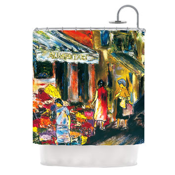"Josh Serafin ""Alimentari"" Multicolor Painting Shower Curtain"