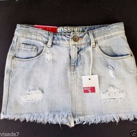 Shortie Skirt Denim Jean Lowest Rise Mossimo Supply Co Size 3 Juniors XS Adult