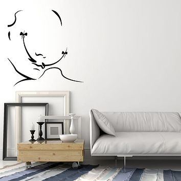 Vinyl Wall Decal Abstract Salvador Dali Mustache Bow Artist Art Stickers (3958ig)