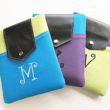 Personalized Ipad case, POCKET Ipad cover, Ipad sleeve with pocket, Padded ,Ipad 1, Ipad 2, Ipad 3,monogrammed.