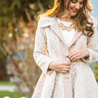 Annabelle Lace Pink Coat