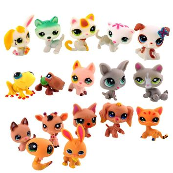 2016 Mini Doll 60 pcs/lot Littlest Pet Shop Cat Loose Child Toys Toys Small Pet Toys Animal Figures
