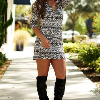 Abstract Tunic Dress