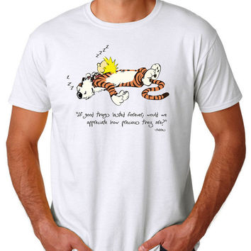 Calvin And Hobbes Quote Tshirt T shirt Tees Tee Men's Women's Unisex Adults Premium Quality