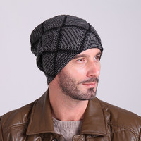 Satin Knit Grid Cap