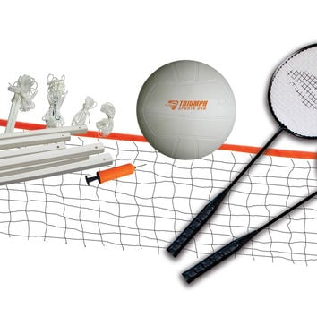 Triumph Sports USA Beginner Volleyball/Badminton Set
