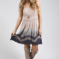 dip dying over you dress - light mocha
