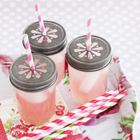 Daisy Cut Mason Jar Lids - Set of 6