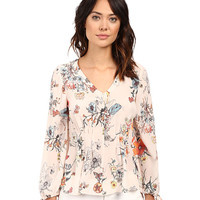 Rebecca Taylor Meadow Floral Print Long Sleeve Blouse Pink Combo - Zappos.com Free Shipping BOTH Ways