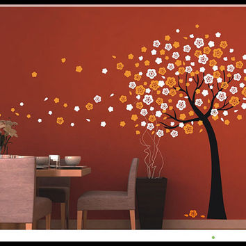 Removable Vinyl Kids Wall Decal Wall Sticker PEEL and STICK - Unique Trailing Cherry Blossom Tree Decal