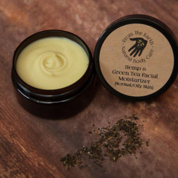 Hemp and Green Tea Facial Moisturizer - all natural, organic skin care, antioxidant, non-comedogenic, vegan, combination, blemish prone