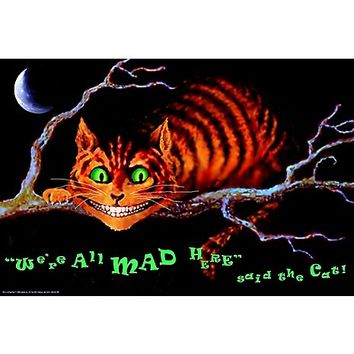 We're All Mad Here Wonderland Blacklight Poster - Spencer's