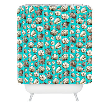 Madart Inc. Sea of Whimsy Sea Shell Pattern Shower Curtain