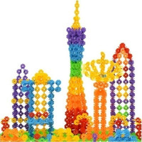 128Pcs Kid Baby Multicolor Snowflake Creative Building Blocks Educational Toys #lcmq