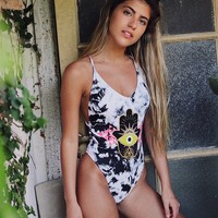 Beach Hot New Arrival Summer Swimsuit Sexy Swimwear Print Bikini [525061816335]