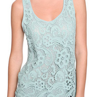 Chiffon & Crochet Tank - Tops - Casual - 2058635476 - Forever21