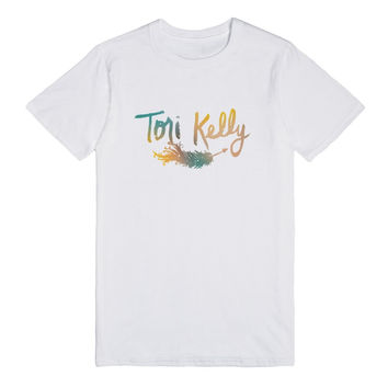 Multi-Colored Tori Kelly Feather T-Shirt