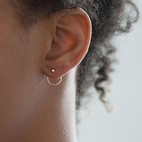 Back Hoop Earrings - Available in Silver & Gold